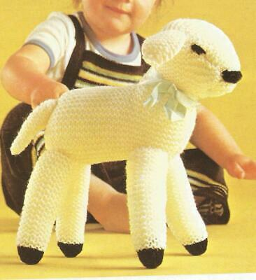 £3.30 • Buy Vintage Toy Knitting Pattern For A Cute & Cuddly Spring Lamb - Dk
