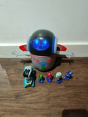 Pj Masks Toys PJ Robot  Light & Sound / Spin & Move And 1 Car And 4 Figures • 20£