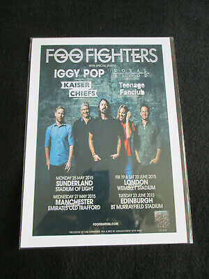 Foo Fighters  :  U.k.tour 2015   : A4 Glossy Repo Poster  • 3.99£