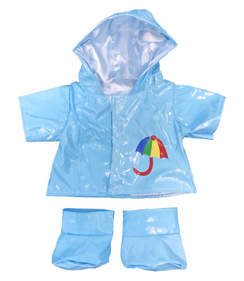 Blue Raincoat & Boots Teddy Bear Clothes Outfit To Fit 16  Build A Bear Bears  • 9.79£