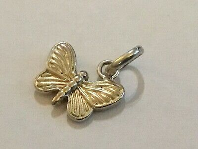 Authentic Sterling Silver Links Of London Butterfly Charm - Full Hmark • 9.99£