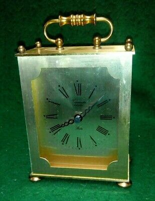 Timemaster Quartz `strike` Brass Carriage Clock • 8.99£