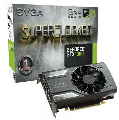 $ CDN223.62 • Buy EVGA GeForce GTX 1060 SC SuperClocked 3GB GDDR5 GAMING Graphics Card DX12