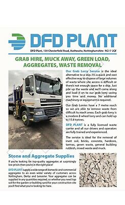 £170 • Buy Grab Lorry Hire Muck Away Topsoil Aggregates Derbyshire Nottinghamshire
