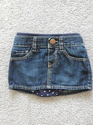 Baby Gap, Girls Denim Skirt With Attached Spotty Bloomers, 3-6 Months • 2.20£