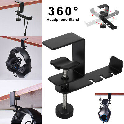 AU13.68 • Buy Universal Gaming DJ Gamer Headphone Stand Headset Hanger Bracket Holder Rack AU