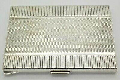 £189.89 • Buy Antique Solid Silver Italian Made LARGE Cigarette Case, Engraved And Stamped