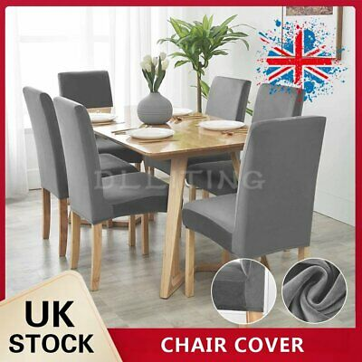 Dining Chair Covers Washable Stretch Chair Slipcover Removable Chair Protector • 7.59£