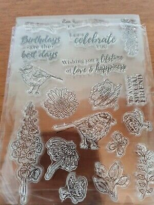 Birds And Flowers Clear Stamps • 0.99£