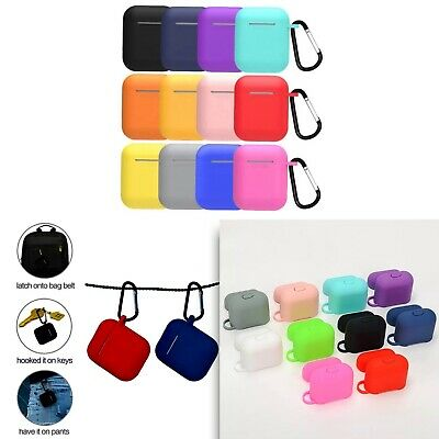 $ CDN4.28 • Buy AirPods 1 And 2 Silicone Protective Case Holder With Keychain UK Stock
