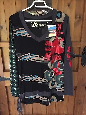 "Desigual Ladies Tunic Top With Long Sleeves Size L (36"")Brand New • 14.99£"