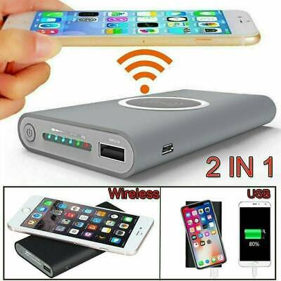 AU13.77 • Buy 900000mah Wireless Power Bank Pack Backup Battery Charger For All USB Phone