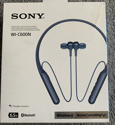 Sony WI-C600N Wireless Noise Cancelling Headphones - Blue • 3.20£