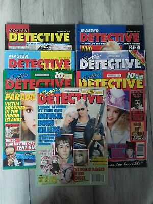 Master Detective Magazines X7, True Crime. Mixed Dates 1999, 2001, 2003 & 2005. • 6£