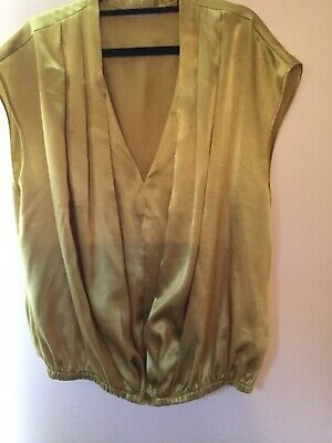 Planet Silky Mustard Top Size 18 • 1.50£