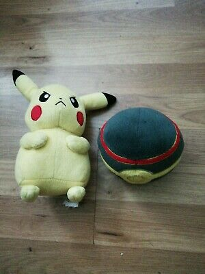 Pokemon Pikachu Plush +5  Pokemon Poke Luxury Ball By Tomy • 7.99£