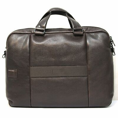 Man Briefcase Piquadro Pulse Plus CA3347P15S Brown Leather Business Laptop Bag • 182.33£