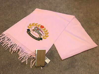New With Tags Burberry Scarf Pink 100% Cashmere Made In Scotland • 175£