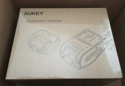 AU218.90 • Buy AUKEY Dual Dash Cam DR02D 1080P Front Rear 6-Lane Wide-Angle NIB SHIP FROM STORE
