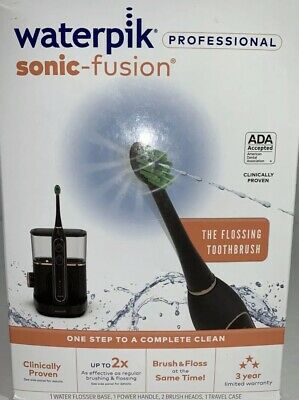 View Details Waterpik Sonic Fusion Professional Toothbrush And Water Flosser,black/rose Gold • 105.00$