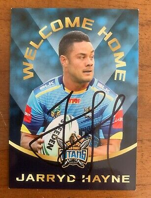 AU39.99 • Buy @signed # 2016 Nrl Esp Elimited Edition Jarryd Hayne Card Only 1 / 500 Produced