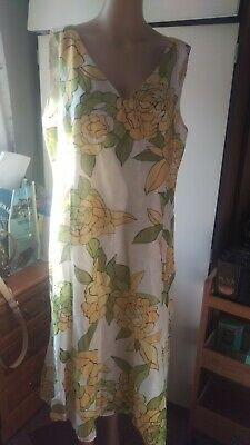 Alex And Co Linen And Silk Midi Dress Size 18 • 1£