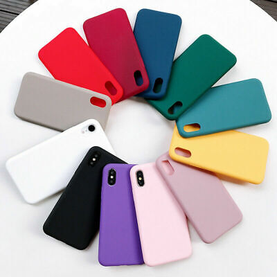 Soft TPU Silicone Case For IPhone SE 6 7 8 Plus X XS Max,11 Pro Max Rubber UK • 3.99£