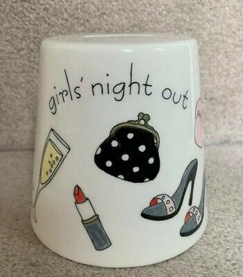 Girls Night Out Hand-Painted Cone Money Box / Piggy Bank • 3.99£