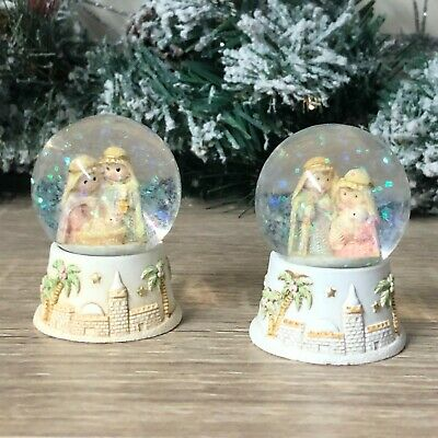 Bethlehem Nativity Scene Small Christmas Mini Snow Globe • 9.95£