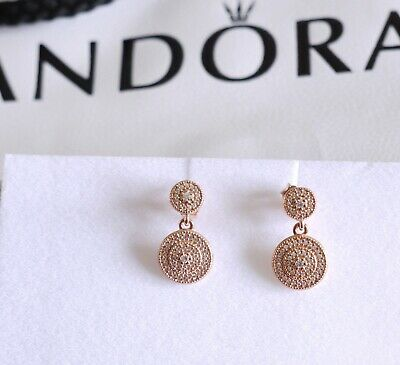 PANDORA Rose Radiant Elegance Drop Earrings & Clear CZ  • 25£