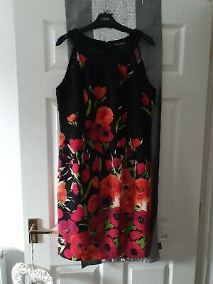Ladies Jessica Howard Red/pink Floral Print Shift Dress Size 18. Bnwot  • 8.99£