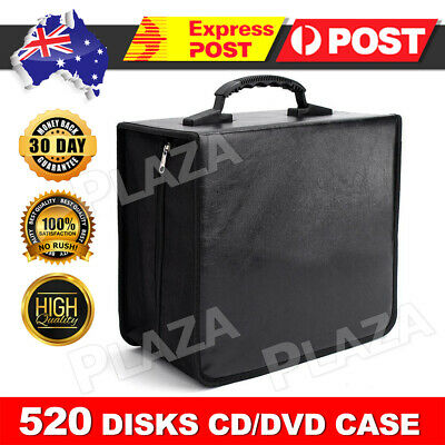 AU20.95 • Buy 520 Disc CD DVD Case Wallet Storage Holder Album Folder Sleeves Cover Bag Box