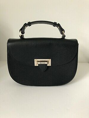 Aspinal Of London Letter Box Saddle Bag In Black (RRP £450) • 160£