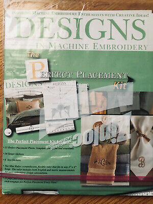$26.95 • Buy Perfect Placement Kit - Designs In Machine Embroidery, New, Opened Package