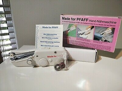Made For PFAFF Mini Stitch Portable Sewing Machine. Vintage , Old New Stock. VGC • 12.99£