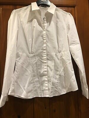 Ladies AUTOGRAPH Marks And Spencer White Blouse Shirt Size 14 • 0.99£