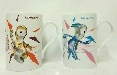 London 2012 Olympics Mandeville & Wenlock Official Mascot Mugs China Tea Cup • 12.99£