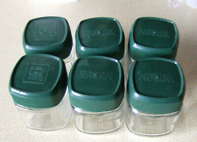 6 X Cute Small Glass Coffee Jars With Lids Ideal For Spices/nuts/sweets • 3.99£