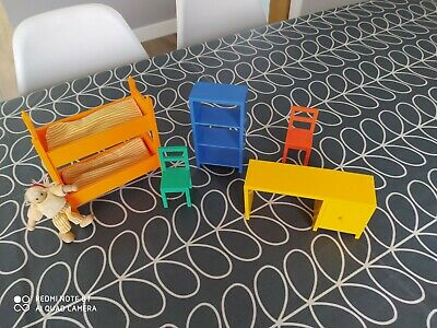 Ikea Doll House Furniture Bunk Beds Desk Chair Wall Unit Set Multi Coloured • 24.99£
