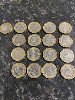 17x £2 Coin Two Pound Coins Job Lot 2 Pounds All Different Collection Circulated • 41£