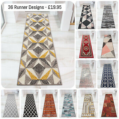 Extra Long Hallway Runner Rugs Cheap Carpet Runners Bedroom Hall Runners £19.95 • 19.95£