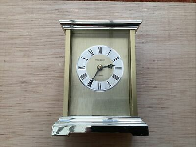 Small Vintage Carriage Clock Working President Quartz Brass Clock Collectors • 6.99£