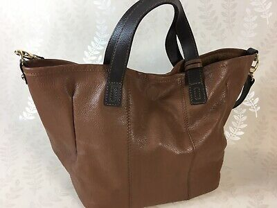 Laura Ashley Tan Leather Tote Bag With Detachable Over Shoulder Strap And Pouch  • 4.99£
