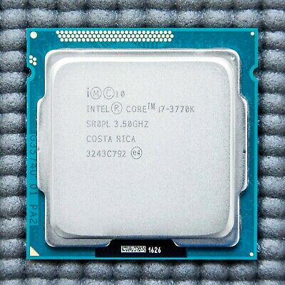 Intel Core I7 3770K 3770 K Processor CPU 3.5GHz LGA1155 *100% WORKING* • 119.99£