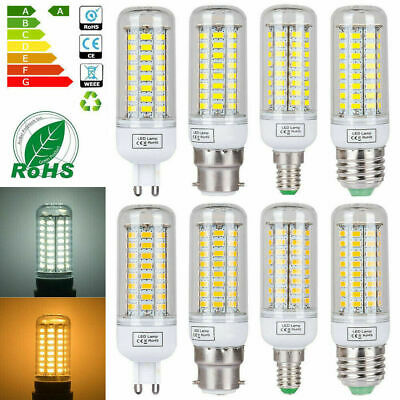AU5.13 • Buy 110V 220V E12 E14 E27 G9 B22 7W 12W 15W 20W 25W 5730SMD LED Corn Light Bulb Lamp