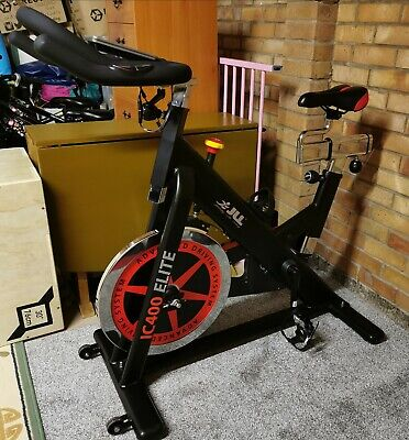 JLL IC400 Elite Exercise Bike 20kg Fly Wheel Indoor Cycling Home Gym Spin  • 102£