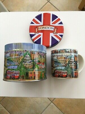 City Of London China Mug /cup In Gift Tin James Sadler. NEW • 6.50£