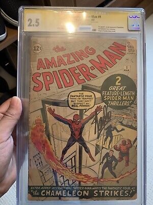 Marvel Amazing Spider-man #1 1963 Silver Age Comic Signed By Stan Lee Cgc • 7,750£