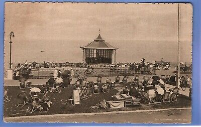 UNUSUAL 1915c THE BANDSTAND HERNE BAY KENT VINTAGE POSTCARD  • 0.99£