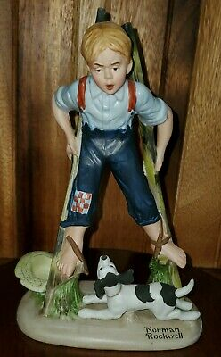 $ CDN6.58 • Buy Norman Rockwell Porcelain Figurines BOY ON STILTS 1980 Danbury Mint